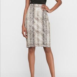 NWT Express High Waisted Snakeskin Pencil Skirt